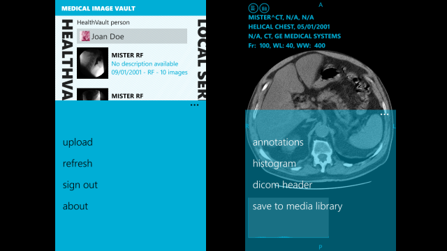 Medical Image Vault for Windows Phone
